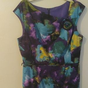 Floral Dress Bunlde with a pair of earrings